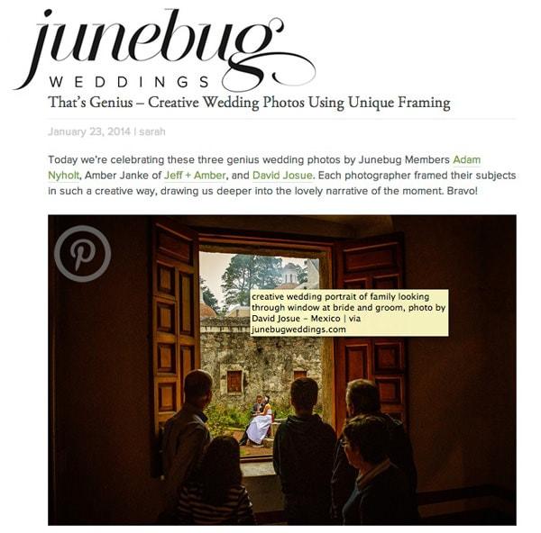 David Josue photography featured at junebug weddings